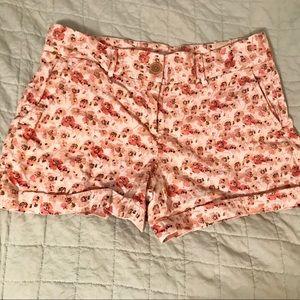 LOFT pink floral 🌸 printed shorts size 4